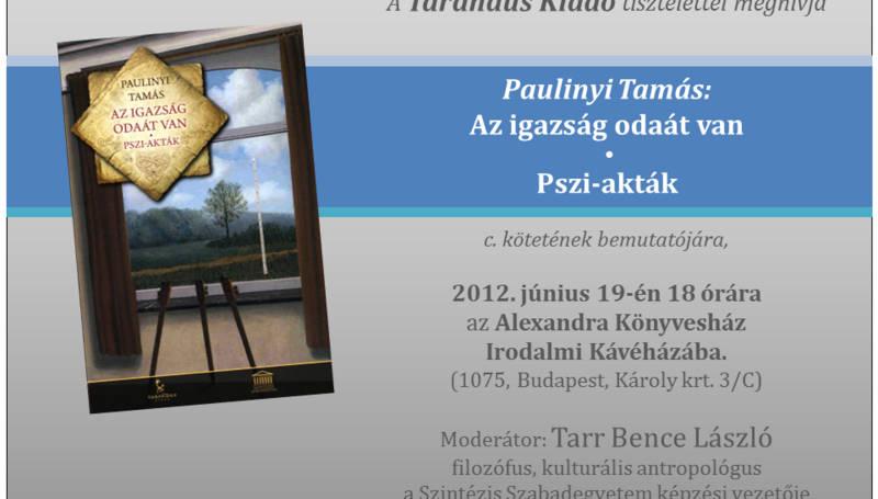 Paulinyi Tamás könyvbemutató